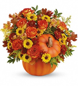 Teleflora's Warm Fall Wishes Bouquet in Muncie IN, Paul Davis' Flower Shop