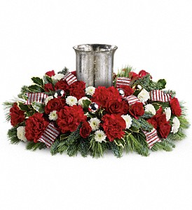 Teleflora's Holly Jolly Centerpiece in Athens GA, Flower & Gift Basket