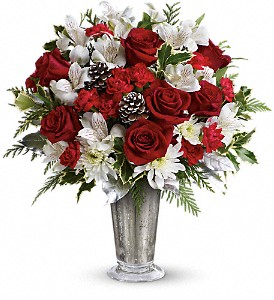 Teleflora's Timeless Cheer Bouquet in Commerce Twp. MI, Bella Rose Flower Market