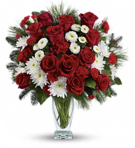 Teleflora's Winter Kisses Bouquet in Little Rock AR, The Empty Vase