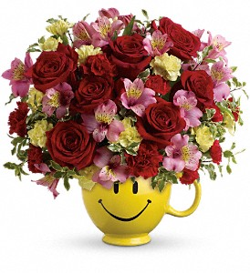 So Happy You're Mine Bouquet by Teleflora in Edmonton AB, Petals For Less Ltd.