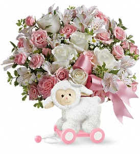 Teleflora's Sweet Little Lamb - Baby Pink in Renton WA, Cugini Florists