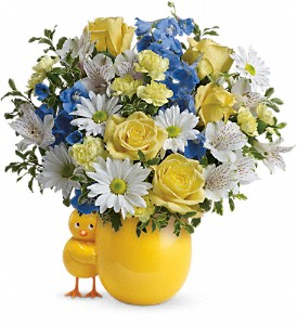 Teleflora's Sweet Peep Bouquet - Baby Blue in Chesapeake VA, Greenbrier Florist