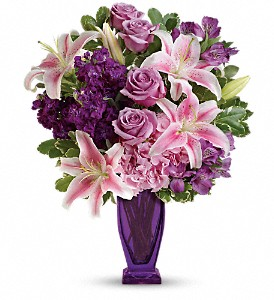 Teleflora's Blushing Violet Bouquet in San Jose CA, Rosies & Posies Downtown