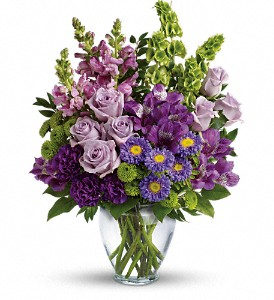 Lavender Charm Bouquet in Holladay UT, Brown Floral