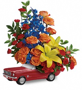 Living The Dream '65 Ford Mustang by Teleflora in Amherst NY, The Trillium's Courtyard Florist