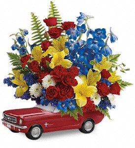 Teleflora's '65 Ford Mustang Bouquet in New Iberia LA, A Gallery of Flowers