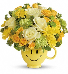 Teleflora's You Make Me Smile Bouquet in Edmonton AB, Petals For Less Ltd.