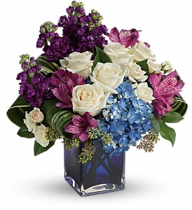 Teleflora's Portrait In Purple Bouquet in Bakersfield CA, Mt. Vernon Florist