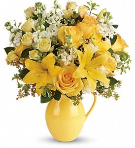 Teleflora's Sunny Outlook Bouquet in Royersford PA, Three Peas In A Pod Florist