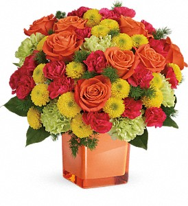 Teleflora's Citrus Smiles Bouquet in Big Rapids MI, Patterson's Flowers, Inc.