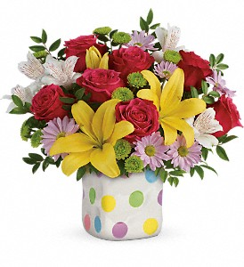 Teleflora's Delightful Dots Bouquet in Ruston LA, 2 Crazy Girls