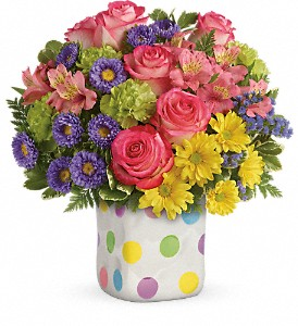 Teleflora's Happy Dots Bouquet in Laurel MD, Rainbow Florist & Delectables, Inc.