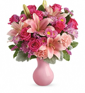 Teleflora's Lush Blush Bouquet in Liverpool NY, Creative Florist