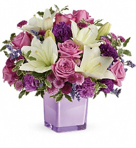 Teleflora's Pleasing Purple Bouquet in Woburn MA, Malvy's Flower & Gifts