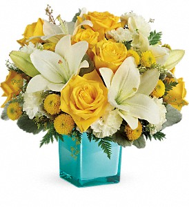 Teleflora's Golden Laughter Bouquet in San Bruno CA, San Bruno Flower Fashions