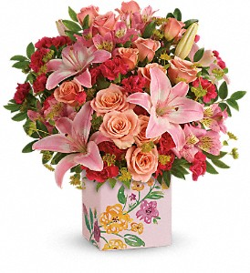 Teleflora's Brushed With Blossoms Bouquet in Terrace BC, Bea's Flowerland