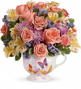 Teleflora's Butterfly Sunrise Bouquet in Terrace BC, Bea's Flowerland