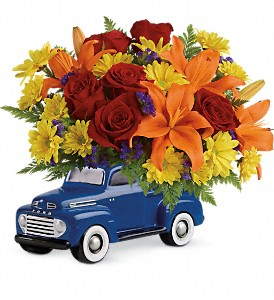 Vintage Ford Pickup Bouquet by Teleflora in San Bruno CA, San Bruno Flower Fashions