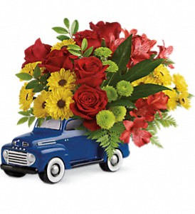Glory Days Ford Pickup by Teleflora in Mason City IA, Baker Floral Shop & Greenhouse