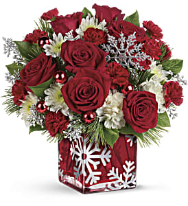 Teleflora's Silver Christmas Bouquet in Encinitas CA, Encinitas Flower Shop