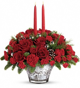 Teleflora's All That Glitters Centerpiece in Oklahoma City OK, Array of Flowers & Gifts
