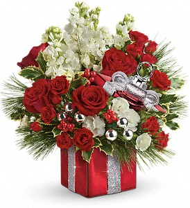 Teleflora's Wrapped In Joy Bouquet in Prince George BC, Prince George Florists Ltd.