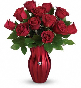 Teleflora's Heart Of A Rose Bouquet in Oklahoma City OK, Array of Flowers & Gifts