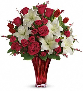 Love's Passion Bouquet by Teleflora in Oklahoma City OK, Array of Flowers & Gifts
