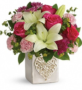 Teleflora's Love To Love You Bouquet in Jersey City NJ, Entenmann's Florist