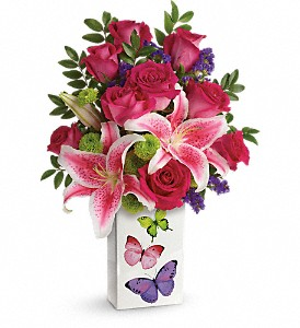 Teleflora's Brilliant Butterflies Bouquet in Brandon FL, Bloomingdale Florist