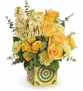 Teleflora's Shimmer Of Thanks Bouquet in Meriden CT, Rose Flowers & Gifts