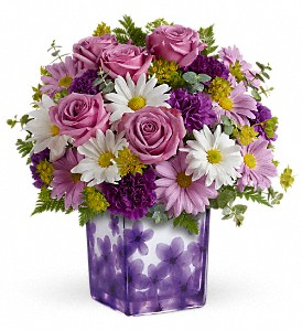 Teleflora's Dancing Violets Bouquet in East Dundee IL, Everything Floral