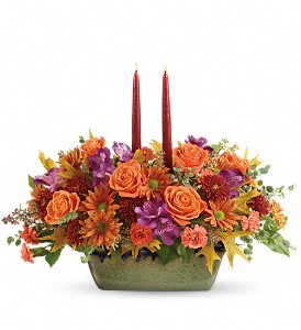 Teleflora's Country Sunrise Centerpiece in Moncton NB, Macarthur's Flower Shop