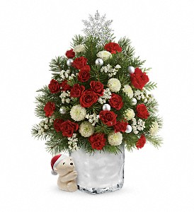 Send a Hug Cuddly Christmas Tree by Teleflora in West Chester OH, Petals & Things Florist
