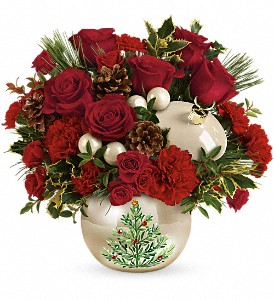 Teleflora's Classic Pearl Ornament Bouquet in White Lake MI, Flowers of the Lakes