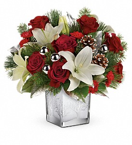Teleflora's Frosted Forest Bouquet in Wolfeboro Falls NH, Linda's Flowers & Plants