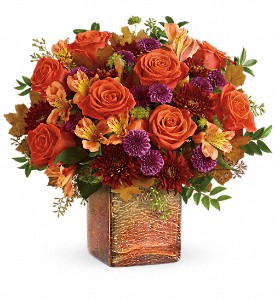 Teleflora's Golden Amber Bouquet in Houston TX, Colony Florist