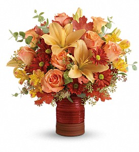 Teleflora's Harvest Crock Bouquet in Tinley Park IL, Hearts & Flowers, Inc.