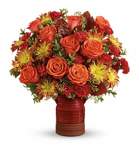 Teleflora's Heirloom Crock Bouquet in Canton NY, White's Flowers
