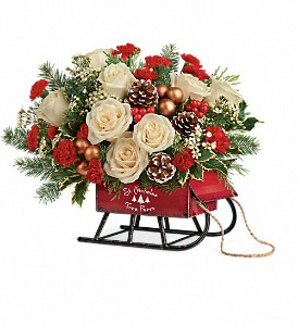 Teleflora's Joyful Sleigh Bouquet in Huntsville AL, Albert's Flowers