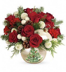 Teleflora's Twinkling Ornament Bouquet in White Stone VA, Country Cottage