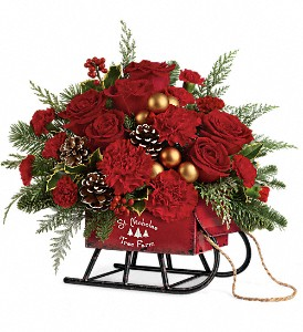 Teleflora's Vintage Sleigh Bouquet in Waterbury CT, The Orchid Florist