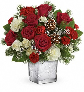 Teleflora's Woodland Winter Bouquet in Menomonee Falls WI, Bank of Flowers