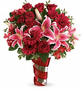 Teleflora's Swirling Desire Bouquet in San Bruno CA, San Bruno Flower Fashions