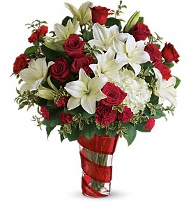 Teleflora's Work Of Heart Bouquet in San Jose CA, Rosies & Posies Downtown