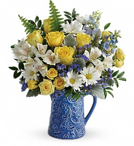 Teleflora's Bright Skies Bouquet in Bakersfield CA, All Seasons Florist