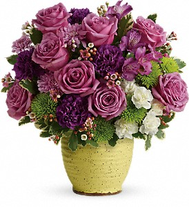 Teleflora's Spring Speckle Bouquet in Edmonton AB, Petals For Less Ltd.