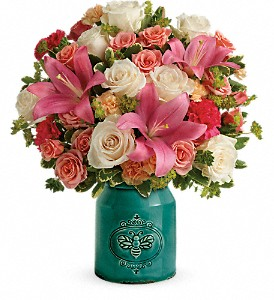 Teleflora's Country Skies Bouquet in Peterborough ON, Rambling Rose Flowers