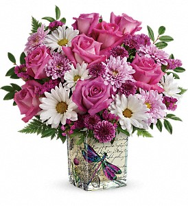 Teleflora's Wildflower In Flight Bouquet in Newmarket ON, Blooming Wellies Flower Boutique
